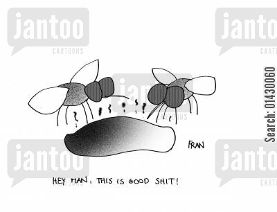midges cartoon humor: 'hey man, this is good sht'