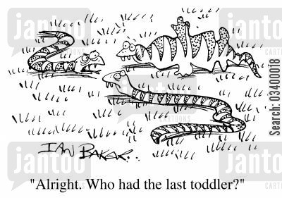 devour cartoon humor: Alright, who had the last toddler?