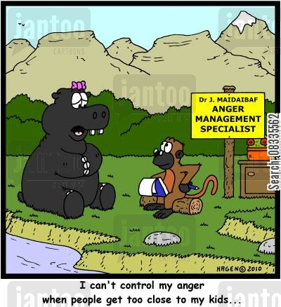 protective parents cartoon humor: 'I can't control my anger when people get too close to my kids...'