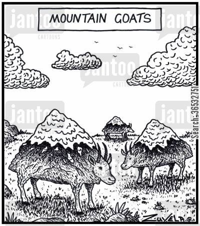 hills cartoon humor: Mountain Goats.