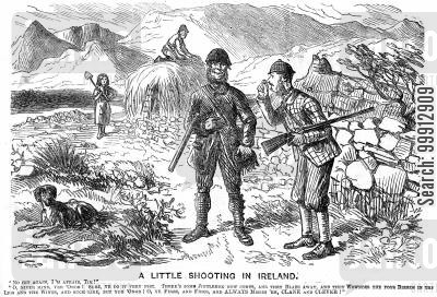 bad aim cartoon humor: Shooting in Ireland