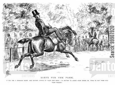 mares cartoon humor: Hints for the Park.