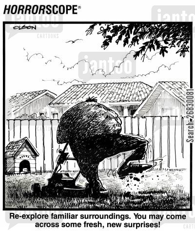 lawnmowers cartoon humor: Re-explore familiar surroundings. You may come across some fresh, new surprises!