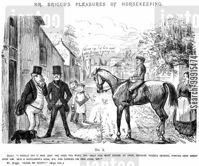 horse dealer cartoon humor: Mr Briggs's Pleasures of Horsekeeping - No. I