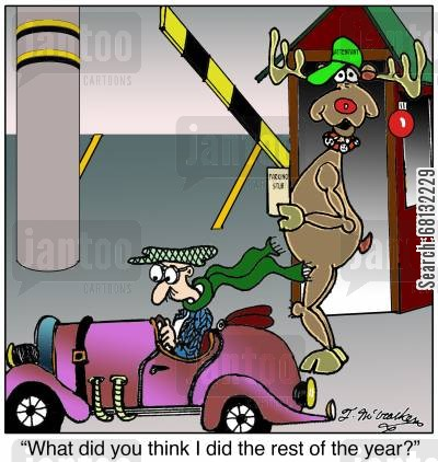 parking attendants cartoon humor: 'What did you think I did the rest of the year?'