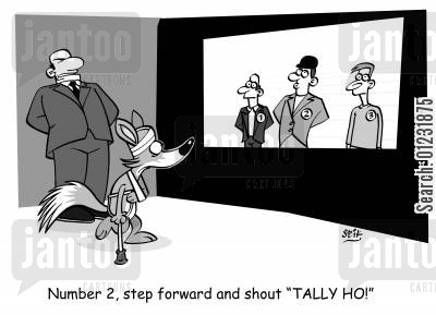 policing cartoon humor: Number 2, step forward and shout 'TALLY HO!'