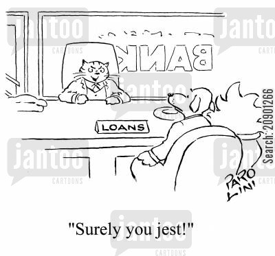 jest cartoon humor: 'Surely you jest!'