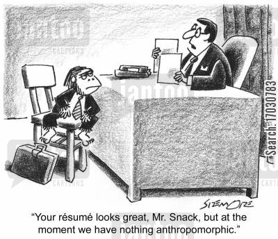 employment interviews cartoon humor: 'Your r