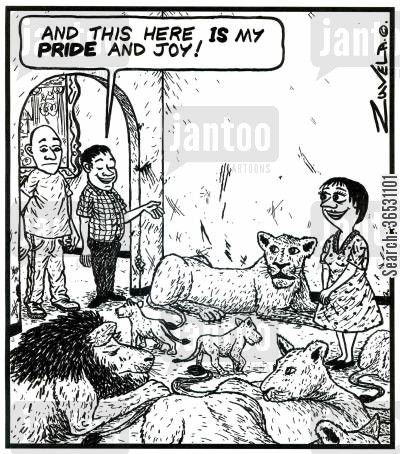 joy cartoon humor: 'And this here is my Pride and Joy!'