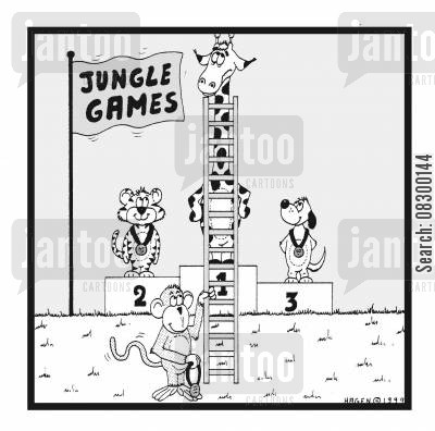 awards cartoon humor: Jungle Games