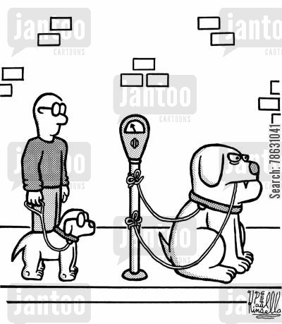 lead cartoon humor: Dog eat dog world - literally!