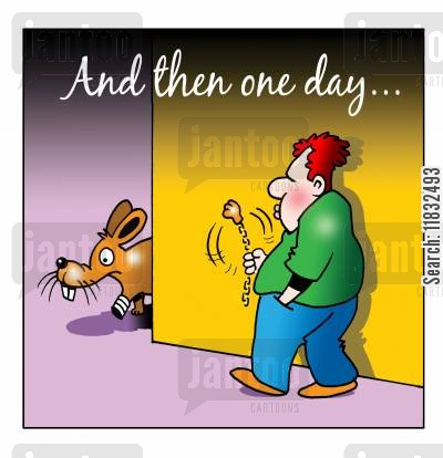 amputated cartoon humor: And then one day...