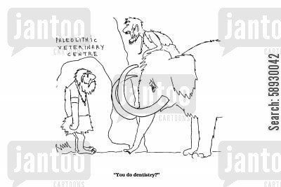 toothache cartoon humor: 'You do dentistry?'