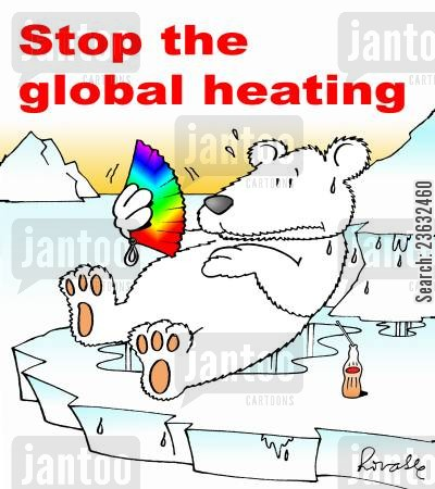 ice caps cartoon humor: Stop the global heating.