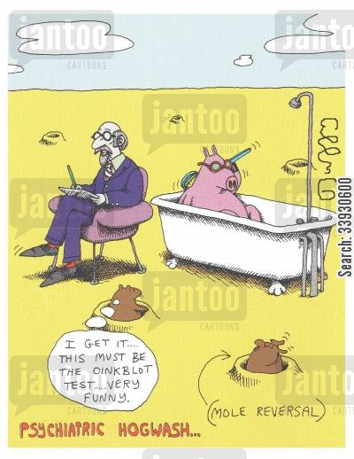 bathtub cartoon humor: Psychiatric Hogwash...