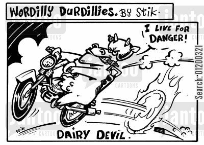 daredevil cartoon humor: Dairy Devil