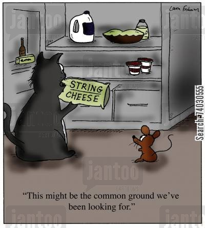interests cartoon humor: 'This might be the common ground we've been looking for.'