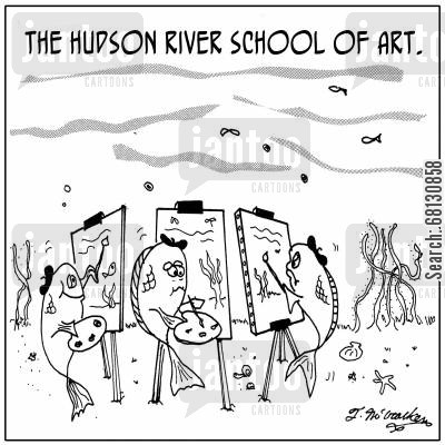 hudson river school of art cartoon humor: The Hudson River School of Art.