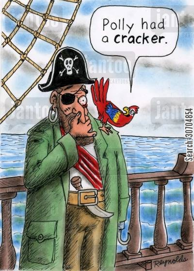 pass wind cartoon humor: 'Polly had a cracker.'