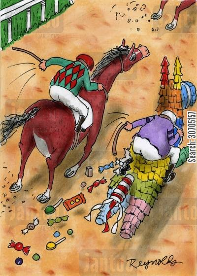 raced cartoon humor: Horse Racing.