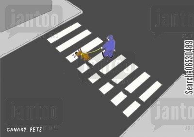 road marking cartoon humor: Crossing
