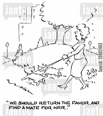 finding a mate cartoon humor: 'We should return the favor, and find a mate for her.'