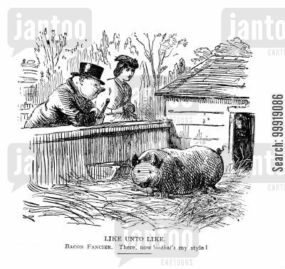 victorian gentleman cartoon humor: Like Unto Like