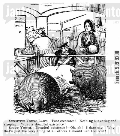 victorian farms cartoon humor: Dreadful Existence.