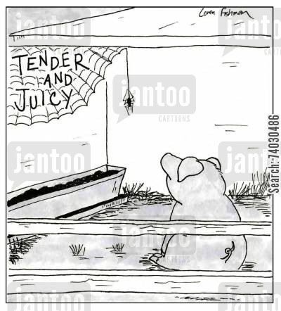 childrens literature cartoon humor: 'Tender and Juicy.'