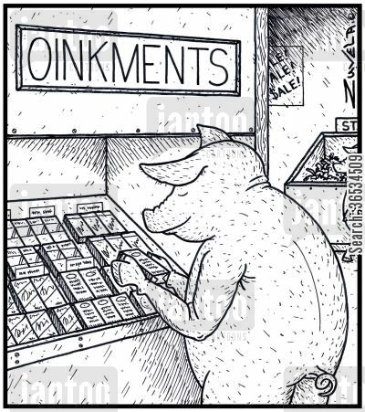 rub cartoon humor: Oinkments