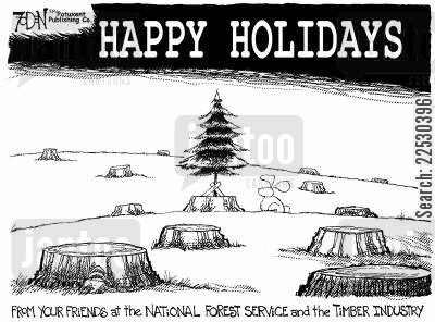 ozone layer cartoon humor: Happy holidays.