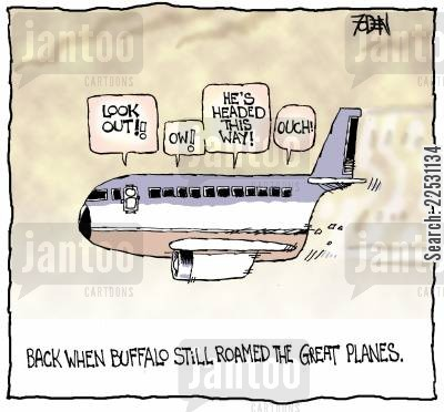 roaming cartoon humor: Back when Buffalo still roamed the Great Planes.