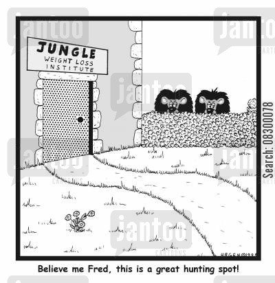hunting spot cartoon humor: Believe me, this is a great hunting spot!