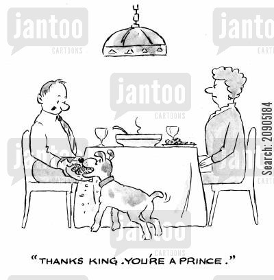 scraps cartoon humor: 'Thanks King. You're a prince.'