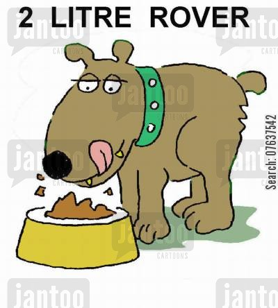 pet accessory cartoon humor: 2 Litre Rover