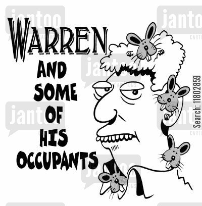 tennant cartoon humor: Warren and some of his occupants.