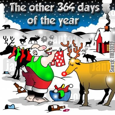 delivering gifts cartoon humor: The other days of the year...