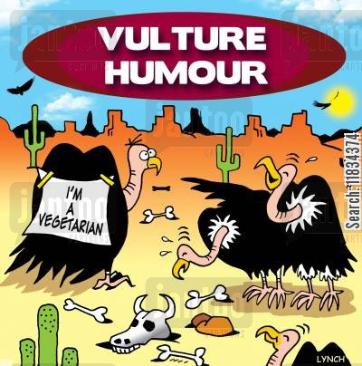 tricksters cartoon humor: Vulture humour: I'm a vegetarian.