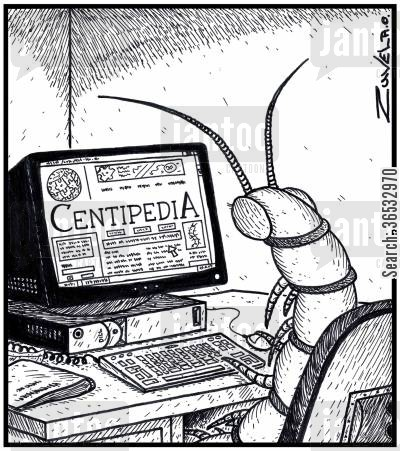 centipedes cartoon humor: Centipedia.