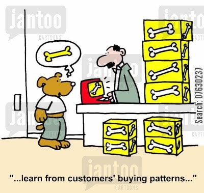product placement cartoon humor: Marketing - Learn from customers' buying patterns...