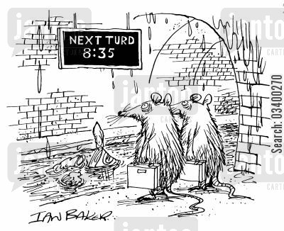 metro cartoon humor: Next Turd 8:35