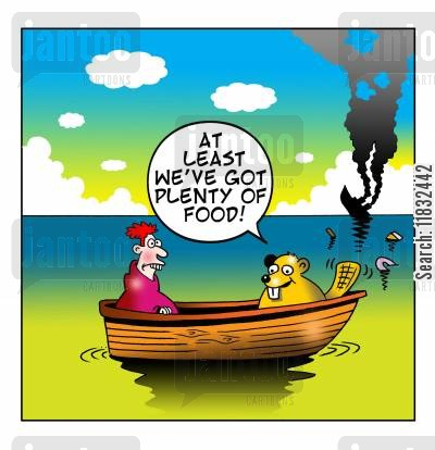 dingies cartoon humor: At least we've got plenty of food.