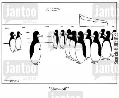 individuals cartoon humor: 'Show-off!'