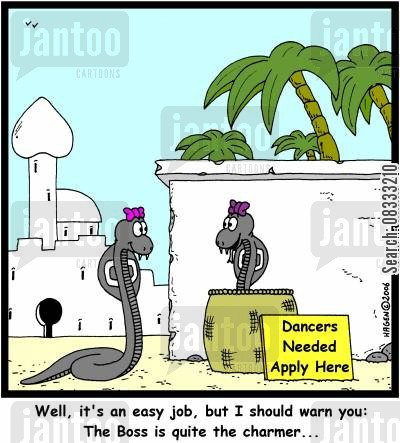 easy jobs cartoon humor: 'Well, it's an easy job, but I should warn you: The Boss is quite the charmer...'