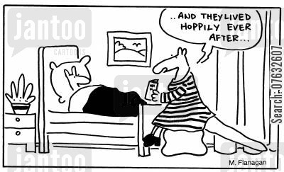 hoppily ever after cartoon humor: And they lived hoppily ever after.