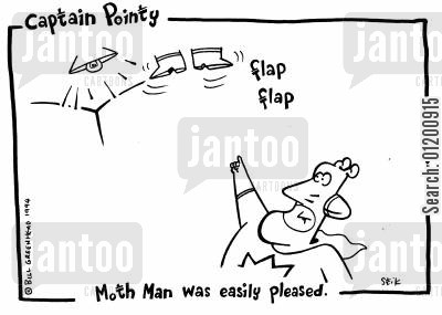 easily pleased cartoon humor: Captain Pointy No.29 - Moth Man was easily pleased