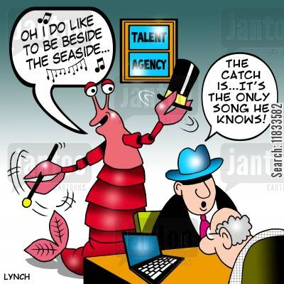 talent spotters cartoon humor: I do like to be beside the seaside...