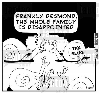 family let down cartoon humor: 'Frankly Desmond, the whole family is disappointed.'