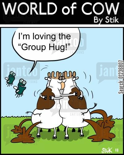 teambuilding cartoon humor: 'I'm Loving the 'Group Hug!''