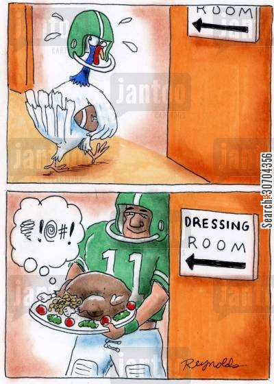 dressing room cartoon humor: Dressing Room: Unlucky Mascot.